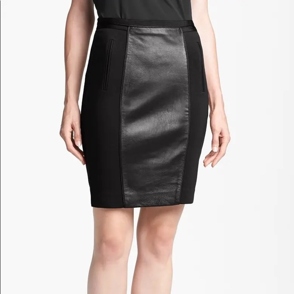Ted Baker leather panel pencil skirt